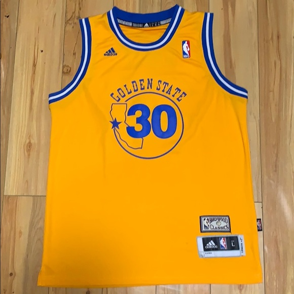 new product db400 81612 Adidas Stephen Curry throwback jersey